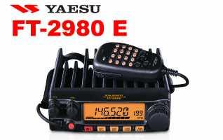 YAESU FT2980E Emisora VHF 144 MHz potencia 80 watios de salida sin necesidad de ventilador refrigeraci�n! Se proporcionan cuatro niveles de salida de potencia seleccionables: 80/30/10/5 Watts. La selecci�n de potencia puede almacenarse en la memoria. La g