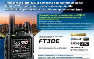 Yaesu FT-3DE Walkie talkie bibanda144 VHF/ 430 UHF