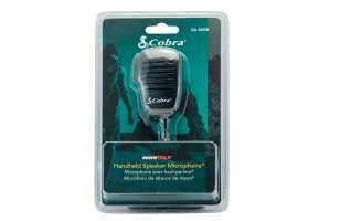 COBRA GA-SM08 micro altavoz con sistema PTT para walkies cobra