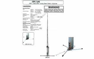 GPE2758 SIRIO Antena base CB 27 Mhz, 5/8 onda. Longitud 6 metros