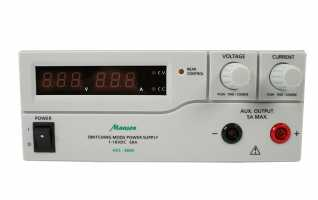 Manson HCS3600 Fuente de Alimentaci�n Digital regulable 1-16 voltios, regulable 0-60 Amperios