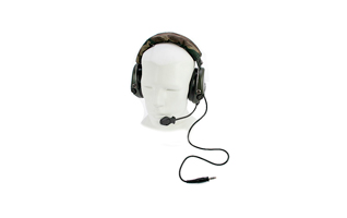 NAUZER HEL 980 Micro Auriculares con poco grosor especial para AIRSOFT con amplificador.