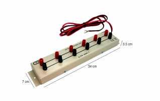 El KDC1N es un pr�ctico adaptador de multiples salidas para las fuentes de alimentaci�n que multiplica la salida de las mismas en 6 salidas independientes para conectar varios aparatos.