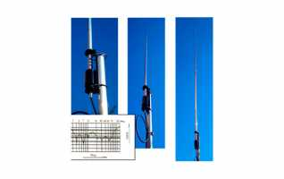 OUT250B, ANTENA DE BASE ALUMINIO  9 BANDAS.