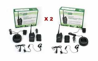 POLMAR WORK III V77 KIT2 Walkie uso libre pareja de walkies