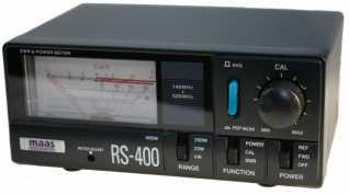 RX-400 MAAS Medidor agujas cruzadas R.O.E. / Watimetro. Medicion escala de 5/ 20 / 200/400 vatios. Valido para frecuencias 140-525 Mhz