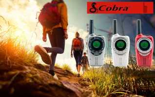 COBRA SM-660 Tres walkies PMR uso libre  colores rojo, plata, blanco