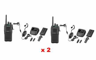 TK3701D-KIT2 KENWOOD Pack de dos Walkie Anal�gico-Digital PMR446 de uso libre