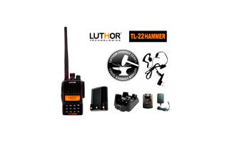 LUTHOR TL-22 HAMMER + BATERIA ALTA CAPACIDAD TLB-409 Walkie monobanda VHF144 mhz. Proteccion al agua IP-65