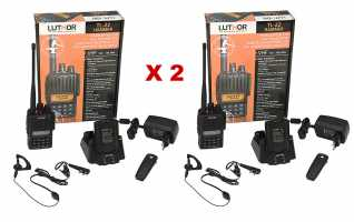 LUTHOR TL-22 HAMMER KIT2  pack dos walkies VHF144 mhz
