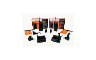 LUTHOR TL446-KIT2  Pareja de dos walkie. Uso Libre Profesional PMR 446. + 2 pinganillos de regalo.