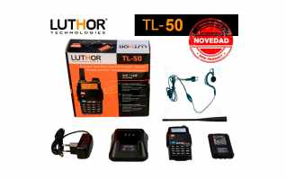 LUTHOR TL-50 Walkie Doble Banda VHF/UH 144/ 430 Mhz