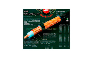 ULTRAFLEX10 M&P Cable Coaxial alta calidad profesional (Diametro10,3 mm: similar en dimensi�n  RG 213 U). Vivo trenzado  3 mm