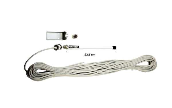 SMART25VLBRACKET MIRMIDON Marina antenna VHF152 - 162 + cable 25 m RG58