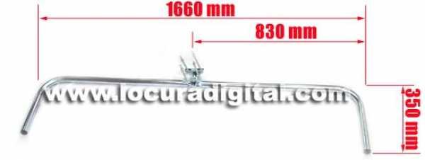 apoio Horizontal Mirmidon DURO-1660 galvanizado duplo