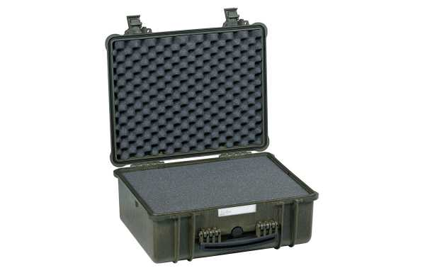 4820G Maleta Explorer verde con espuma Interior L  480 x A 370  x P 205 mm, medidas exterior: Largo 520 x Ancho 435 x Profundidad 230 mm. Maleta de proteccion indestructible de polipropileno ideal para proteger equipos de radiocomunicacion, camaras,  de t