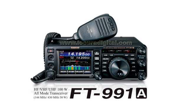 YAESU FT991A Multiband transmitter HF / VHF / UHF 1.8 - 54 Mhz 144/430 Mhz