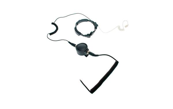 NAUZER PLX330-M. Laringofono auricular tubular Profesional de doble captador para MOTOROLA PROFESIONAL.