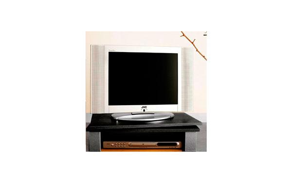GV3N Soporte de madera giratorio para pantallas de TV. Color Negro