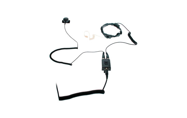 Super-speech aid Nauze PLX220K professional dual sensor for walkies KENWOOD, WOUXUN and PUXING