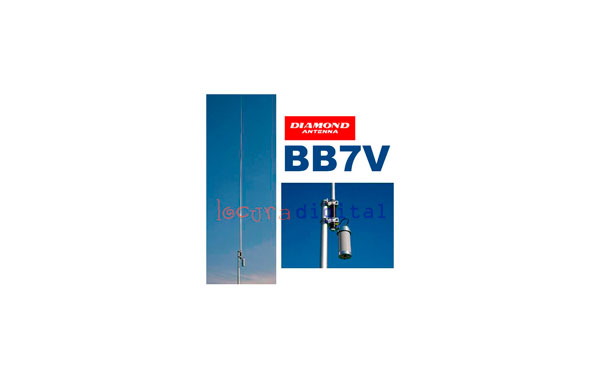 BB7V DIAMOND BB7V ANTENA DE BASE VERTICAL BANDA ANCHA