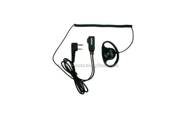 PIN79K NAUZER micro-auricular orejera cerrada, cable rizado, Kenwood, Luthor, etc...