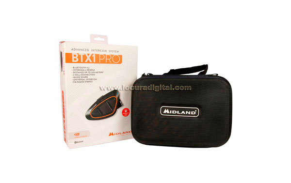 MIDLAND BTX1 PRO SINGLE Intercomunicador universal Bluetooth 4.2 con radio FM y RDS