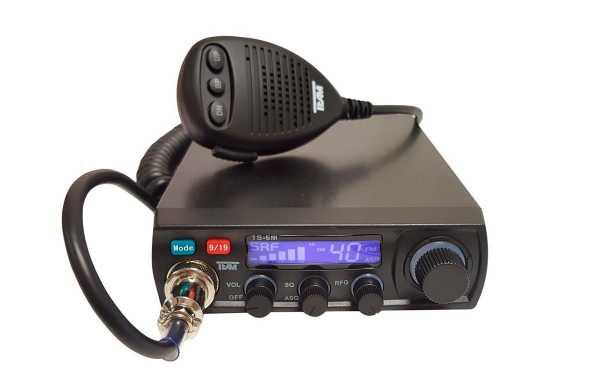 TEAM TS-6M  Emisora CB 27 mhz 40 canales AM/FM. Emisora de facil manejo y utilizacion.