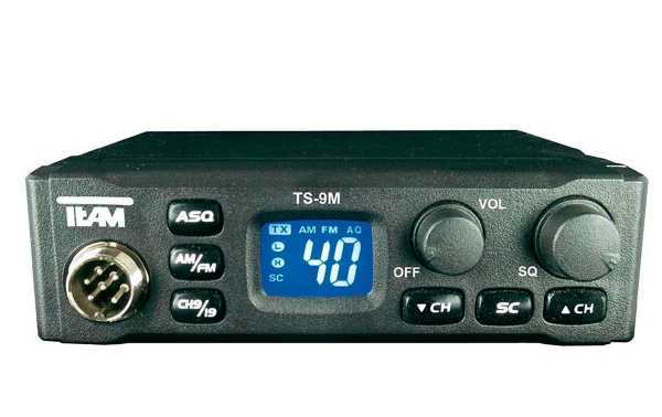 TEAM TS-9M Emisora AM/FM CB 40 CH