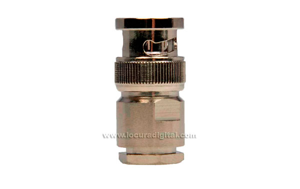 CON02077019 MARCU Conector BNC MACHO soldar.Para cable RF-287 UF