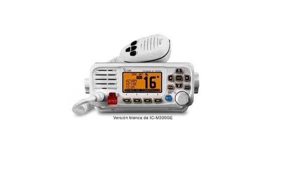 ICOM ICM330-GE Emisora Nautica VHF 156- 162 mhz GPS IPX7 color Blanco