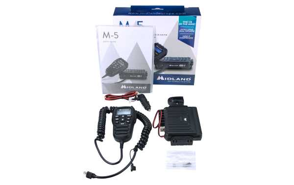MIDLAND-M-5 CB MULTI station with controls in the microphone