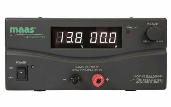 MAAS SPS 9250 de commutation d'alimentation 230v / 9-15V 25 Amper.
