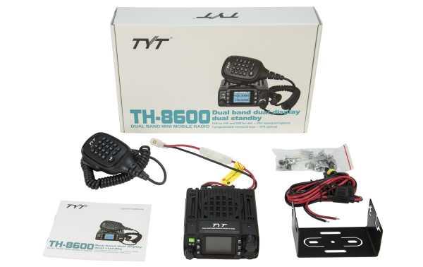 TYT-TH8600 UV CORPS station mobile MINI BIBANDE VHF / UHF