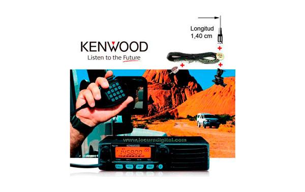 KENWOOD  TM 281E  EMISORA  MOVIL VHF IDEAL PARA MONTAJE EN VEHICULOS SIN HACER ORIFICIO EN LA CHAPA CON ANTENAS LARGA