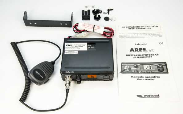 ARESBLACK. CB 27 Mhz transmitter brand LAFAYETTE model ARES BLACK. AM / FM 4 Watts. Color BLACK.