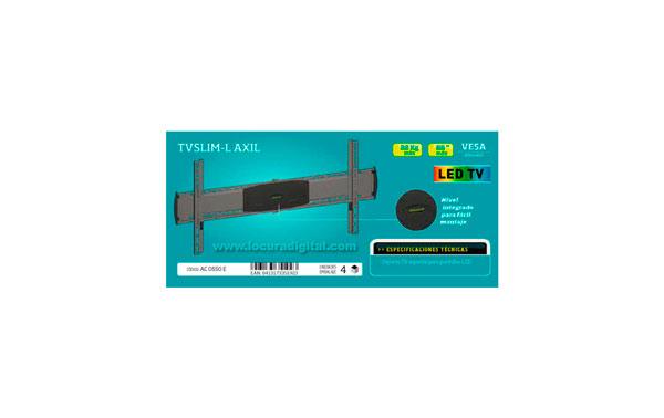 ULTRA SLIM-L SOPORTE ESPECIAL PARA PANTALLAS DE LED. Soporte de pared  para pantallas 55 pulgadas maximo, peso  maximo 45 kg VESA 800 X 450