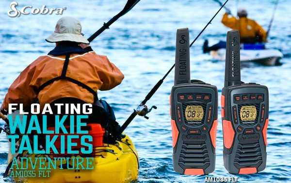 COBRA AM-1035 Pareja walkies PMR color negro flota en agua alcance12km