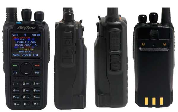 ANYTONE AT-D878UV Walkie DMR radioaficio 144/430 Mhz with APRS digital and analog Roaming compatible with MOTOTRBO Tier 1 and 2.
