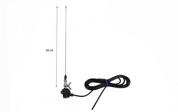Antenne mobile LEMM AT28 1/4 VHF 144-170 Mhz. Type de papillon