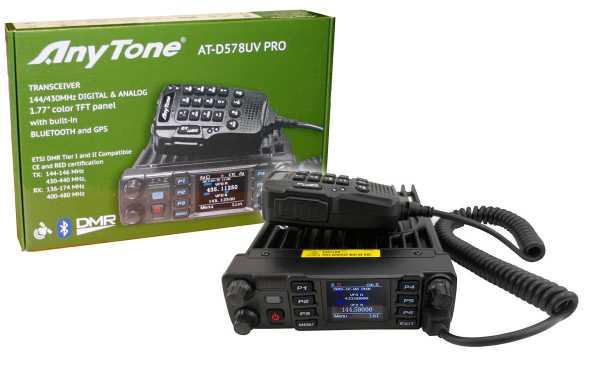 ANYTONE ATD-578UV Emisora Analogica y Digital DMR, bibanda 144/430 Mhz
