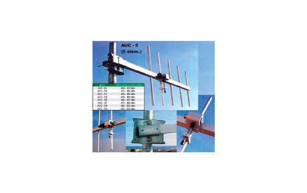 DX-AUC5C ANTENAS DIRECTIVA DE 5 ELEMENTOS UHF 430-445 MHZ
