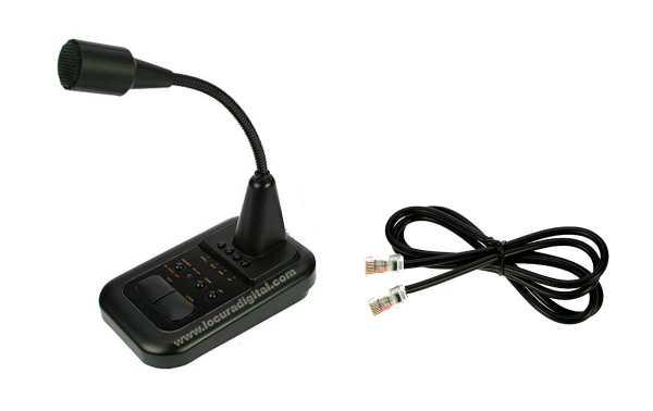 AV508 Microfone de mesa para equipamentos Icom e Kenwood etc.