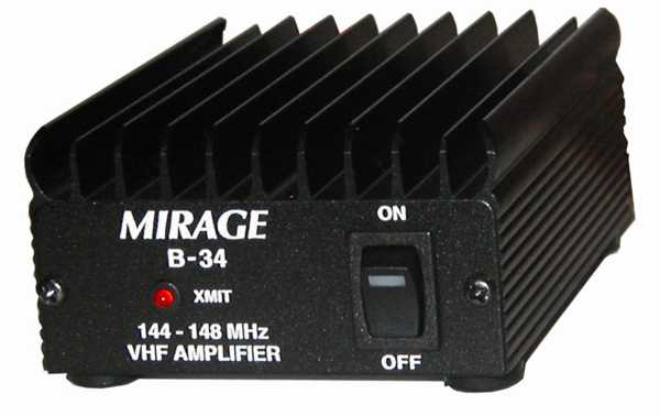 MIRAGE- B34 Amplificador  VHF 35 Watios frecuencia 144-146 Mhz