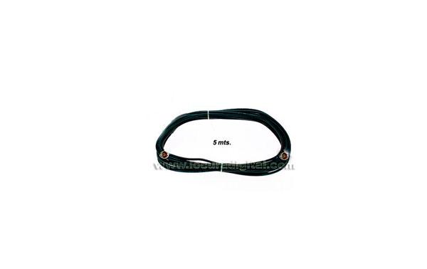 QX007A Cable 5 mts. con 2 conectores N macho para 900 Mhz.