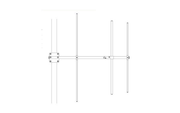 BANTEN14054 BANTEN VHF Yagi 3 elements 136-146 Mhz.ganancia 7,15 dBi. Made of STAINLESS STEEL