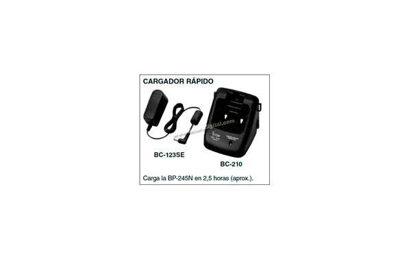 BC-210KIT01  Cargador + transformador  para  walkie IC-M73 y bateria BP-245