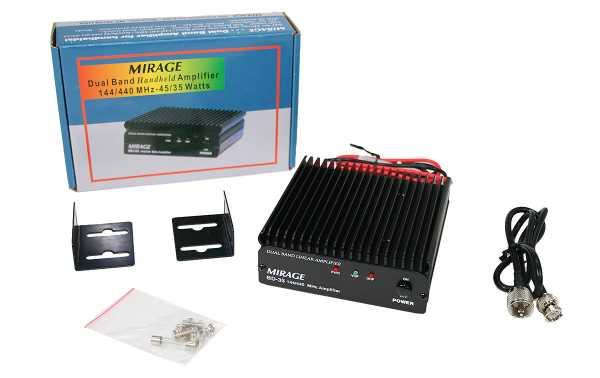 MIRAGE BD-35 Amplificador bibanda VHF / UHF HT input 4 Watts output 45/35 Watt