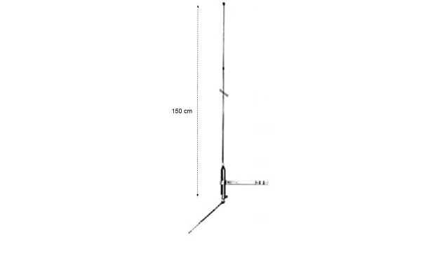 LEMM Mini-Boomelemm  Antena CB 27 mhz Balconera de Fibra  1/4 Onda.