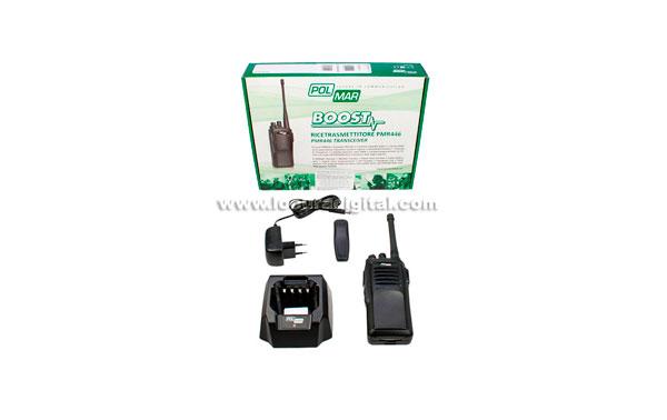 Walkie Talkie PMR446 POLMAR BOOST Professional Free use 16 channels.